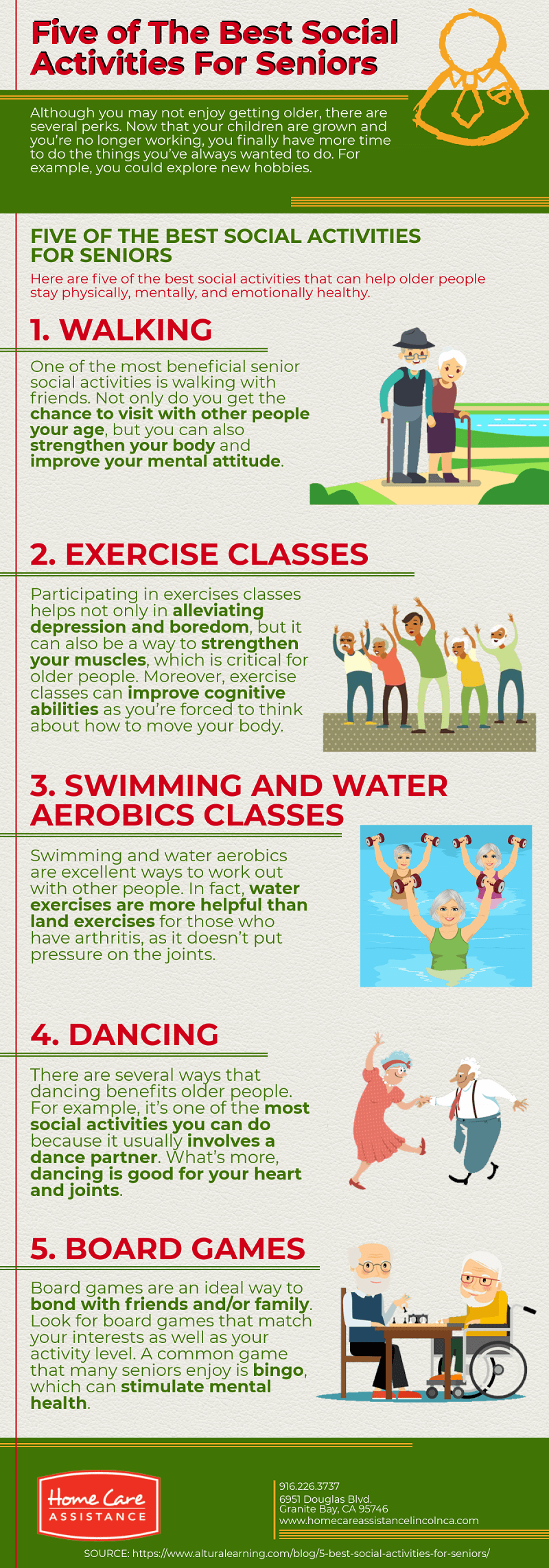 5 Awesome Social Activities for Aging Adults [Infographic]
