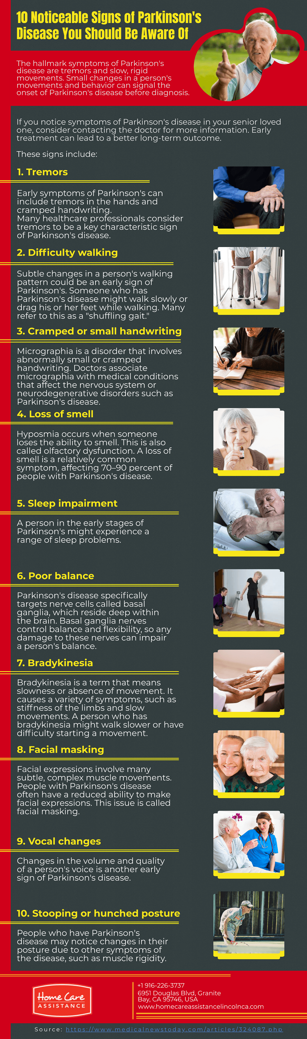 10 Noticeable Signs of Parkinson's Disease You Should Be Aware Of [Infographic]