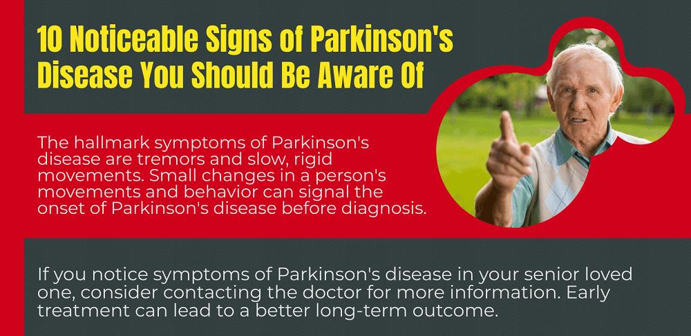 Noticeable Signs of Parkinson's Disease